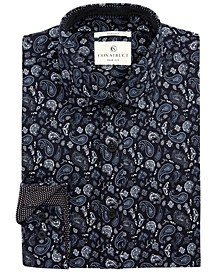 Con.Struct Men's Slim-Fit Stretch Paisley Dress Shirt