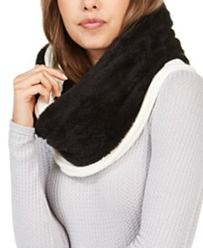 DKNY Fleece-Lined Knit Infinity Scarf