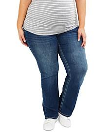 Plus Size Boot-Cut Maternity Jeans