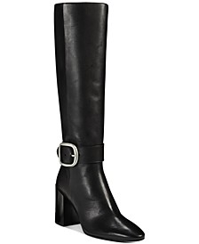 Women's Evelyn Heeled Buckle Leather Boots
