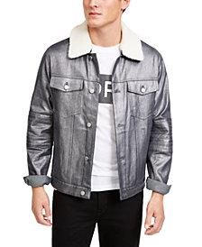 Michael Kors Men's Metallic Moto Trucker Jacket, Created For Macy's