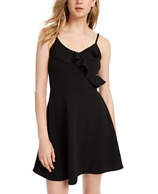 Almost Famous Juniors' Surplice Skater Dress