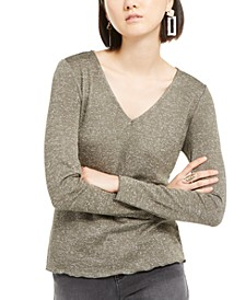 INC Shiny Knit Top, Created for Macy's
