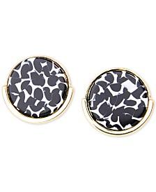 Zenzii Gold-Tone Artistic Button Earrings