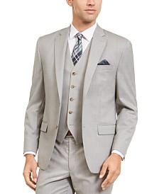 Lauren Ralph Lauren Men's Classic-Fit UltraFlex Stretch Gray Sharkskin Suit Separate Jacket