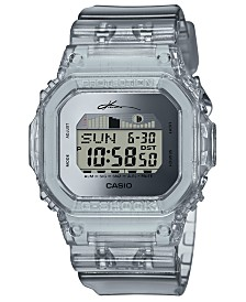 G-Shock Men's Digital Kanoa Igarashi Limited Edition Clear Resin Strap Watch 43mm
