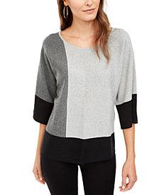 Alfani Petite Colorblocked Sweater, Created For Macy's
