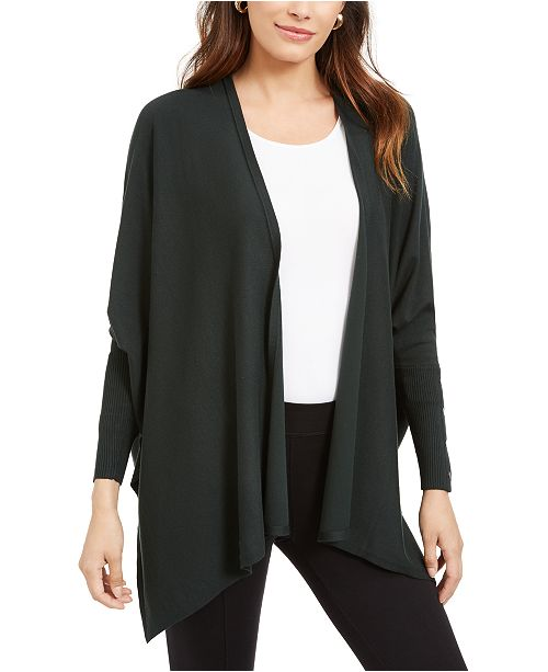 Alfani Open-Front Poncho Cardigan, Created For Macy's