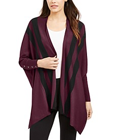Petite Striped Open-Front Cardigan, Created For Macy's