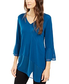 Asymmetrical Bell-Sleeve Top, Created for Macy's