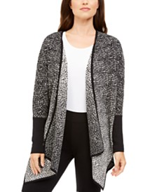 Alfani Cotton Ombré Poncho Cardigan, Created For Macy's