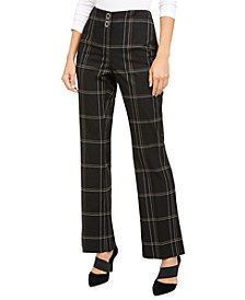 High-Waisted Plaid Pants, Created for Macy's