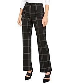 High-Waisted Plaid Pants, Created for Macy's