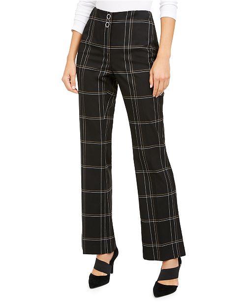Alfani High-Waisted Plaid Pants, Created for Macy's