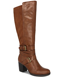 Jomaris Block-Heel Wide-Calf Boots, Created For Macy's
