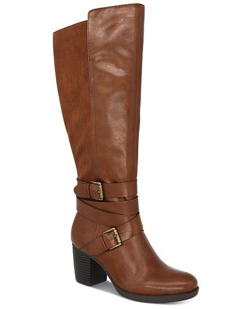 Style & Co Jomaris Block-Heel Wide-Calf Boots, Created For Macy's