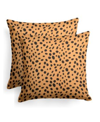 """EF Home Decor Indoor/Outdoor Reversible Square Throw Pillow 18"""" X 18"""", Set Of 2"""