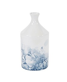 Blue and White Porcelain Bottle Vase, Large