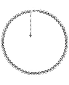 Beaded Necklace in Sterling Silver