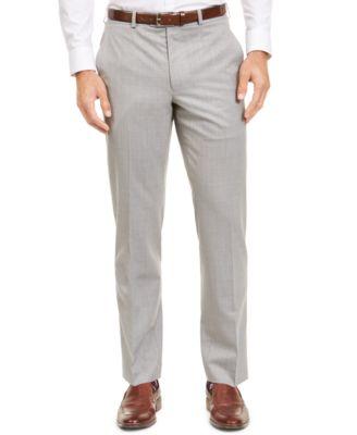 Men's Classic-Fit UltraFlex Stretch Sharkskin Suit Separate Pants