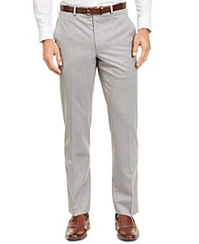 Men's Classic-Fit UltraFlex Stretch Sharkskin Suit Separate Pants
