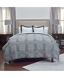 Houndstooth Queen 3 Piece Comforter Set