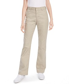 Juniors' Bootcut Cotton Pants