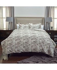 Vintage Butterfly Queen 3 Piece Comforter Set