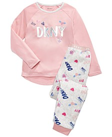 Big Girls 2-Pc. Printed Fleece Pajamas Set