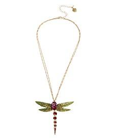 Betsey Johnson Dragonfly Pendant Necklace
