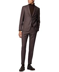 BOSS Men's Nold2 Slim-Fit Micro-Patterned Virgin Wool Jacket