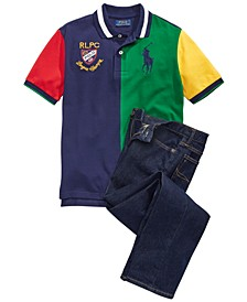 Big Boys Polo Shirt & Jeans