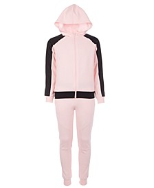 Big Girls Colorblocked Hoodie & Jogger Pants, Created for Macy's