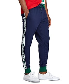 Men's Logo-Tape Fleece Jogger Track Pants
