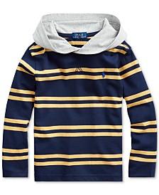 Polo Ralph Lauren Little Boys Navy Stripes Hooded T-Shirt