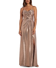 Petite Metallic Gown