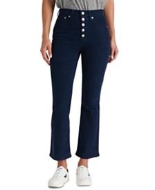 Lucky Brand Bridgette High Rise Flare Capri Jean