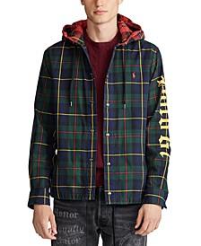Men's Hooded Twill Plaid Shirt