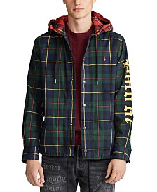 Polo Ralph Lauren Men's Hooded Twill Plaid Shirt