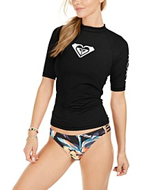 Juniors' Whole Hearted Short Sleeve Rash Guard