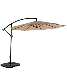 Westin Furniture 10' Cantilever Hanging Patio Umbrella with Base Weights