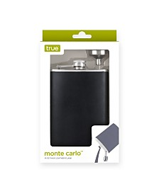 True Monte Carlo 8 Ounce Leather Flask