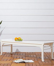 Bradley Outdoor Patio Wood Backless Bench