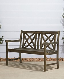Renaissance Outdoor Patio Hand-Scraped Wood Garden Bench