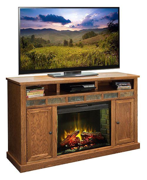 "Legends Furniture Oak Creek 62"" Fireplace Console"