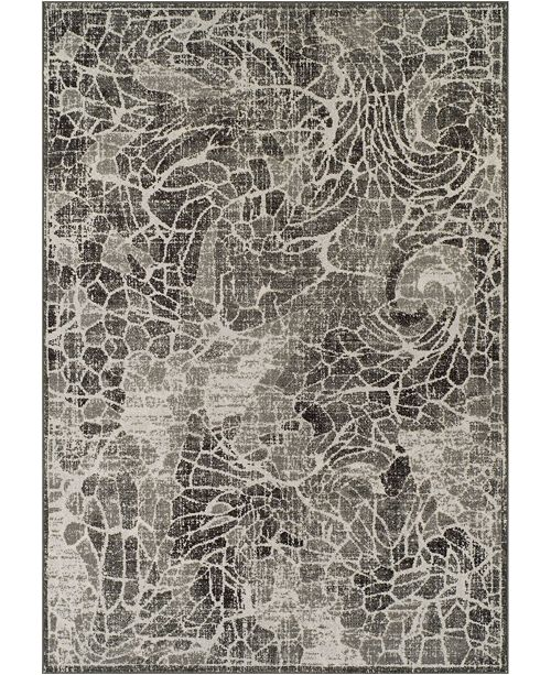 D Style CLOSEOUT! Logan Lo1 Pewter 5'3 X 7'7 Area Rugs