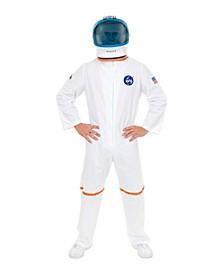 Men's White Astronaut Suit Plus Adult Costume