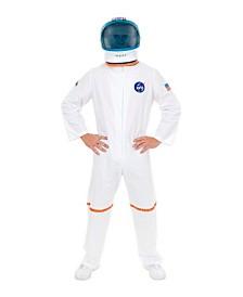 BuySeasons Men's White Astronaut Suit Plus Adult Costume