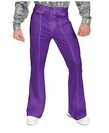BuySeasons Men's Disco Pants Purple