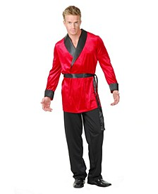 Men's Velvet Smoking Jacket Adult Costume